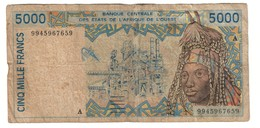 West African States (Ivory Coast - A) 5000 Francs - West African States