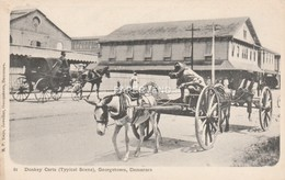 British Guiana  GEORGETOWN Donkey Carts     Bg318 - Postcards