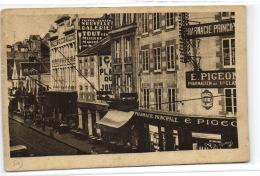 1 CPA Granville Rue Lecampion Et Les Nouvelles Galeries - Granville