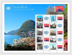 VN / UN - Postfris / MNH - Sheet NABA, Lugano 2018 - Gezamelijke Uitgaven New York/Genève/Wenen