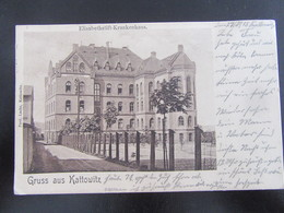 Postkarte Kattowitz Katowice Krankenhaus - Feldpost 1915 - Schlesien