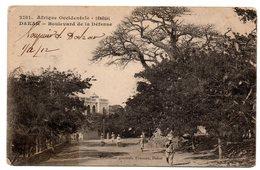 Tarjeta Postal De Senegal. Dakar - Boulevard De La Defense.1912. - Senegal
