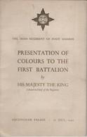 KING GEORGE 6TH IRISH REGIMENT BUCKINGHAM PALACE COLOURS 1949 - Brits Leger