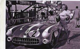 Marilyn Monroe Posing With Chevrolet Corvette SR2 At Sebring 1957 -  15x10 PHOTO - Passenger Cars