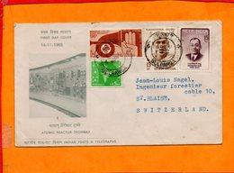 INDE, Lettre De Gulbarga, Enveloppe De La Mise En Route Du Reacteur Nucleaire De Trombay - Inde