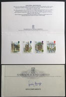 Great Britain QE 1989 Industrial Archaeology Stamps  On Folder With Compliments Of The Printers - Covers & Documents