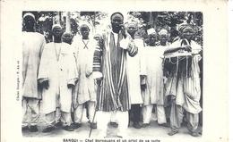 CENTREAFRIQUE - République Du Centre Afrique - BANGUI - Chef Bornouans Et Un Griot De Sa Suite - Centrafricaine (République)