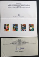 Great Britain QE 1989 Games And Toys Stamps On Folder With The Compliment Of The Printers - Covers & Documents
