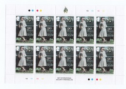 R22 South Georgia Full Sheet 90 Years Of Style  MNH - South Georgia