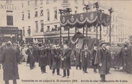 Brussel, Bruxelles, Funérailles Du Roi Léopold II, 22 Décembre 1909, Arrivée Du Char  (pk47044) - Beroemde Personen
