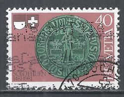 Switzerland 1981. Scott #702 (U) Seal Of Solothurn * - Suisse