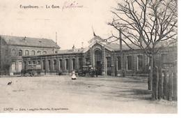 59  ERQUELINNES  La Gare (vers 1900) - Other Municipalities