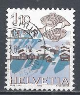 Switzerland 1982. Scott #718 (U) Signs Of The Zodiac, Pisces, Nax Near Sion * - Oblitérés