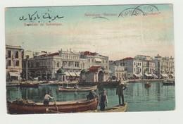 """SALONICCO - TURCHIA UNION POSTALE UNIVERSELLE """"CULLA DELLA LIBERTà OTTOMANA"""" VIAGGIATA 1911 - TIMBRO SALONIQUE TURQUIE - Grecia"""