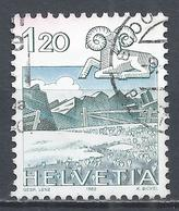 Switzerland 1982. Scott #719 (U) Signs Of The Zodiac, Aries, Graustock  * - Oblitérés