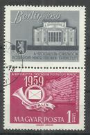 """Ungarn 1592A/Zf  """"Briefmarke. Mit Zierfeld Zum Thema Sozialist. Postministerkonferenz Berlin """" Gestempelt Mi.:1,00 - Hongrie"""