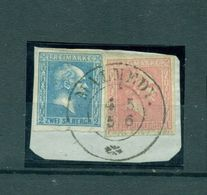 Preussen, König Friedrich Wilhelm IV, Mi.-Nr. 10 + 11, Stempel Malmedy Auf Briefstück - Preussen