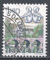 Switzerland 1986. Scott #719A (U) Signs Of The Zodiac,  Gemini & Bischofszell City * - Oblitérés