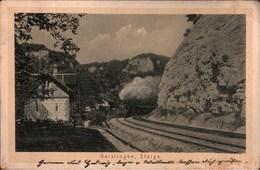 ! Alte Ansichtskarte Dampflok, Eisenbahn, Geislinger Steige, 1914, Railway, Chemin De Fer - Treinen