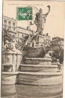 France  & Circulated, Toulon,  Place De La Liberté, Monument De La Fédération, Lyon 1908 France (13) - Monuments