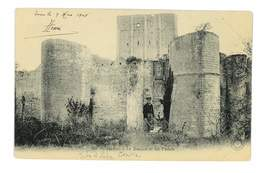CPA 37 LOCHES LE DONJON ET LES FOSSES - Loches