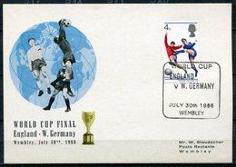 """Großbritannien 1966 Sonderkarte Finale Fußball WM,Soccer Mit Mi.422 Und SST""""Wembley-Word Cup England V.W.Germany""""1 Beleg - World Cup"""