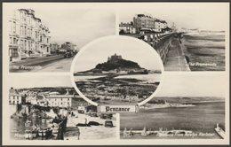 Multiview, Penzance, Cornwall, C.1950 - Photo Precision RP Postcard - England