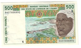 West African States (Senegal -K) 500 Francs UNC/AUNC - Stati Dell'Africa Occidentale