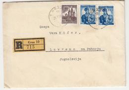 Austria Letter Travelled Registered 1958 Graz To Lovrenc Na Pohorju Marocutti/Kieffer Family B180601 - 1945-60 Briefe U. Dokumente