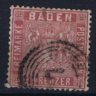 Baden  Mi 12 Obl./Gestempelt/used  Signed/ Signé/signiert/ Approvato Thin Left Bottom Corner - Bade