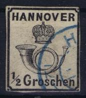 Hannover  Mi 17 Obl./Gestempelt/used  1860 - Hanovre