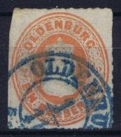 Oldenburg  Mi 16 Aa Obl./Gestempelt/used   1862 - Oldenbourg