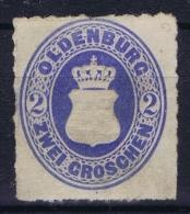 Oldenburg  Mi 19 A Not Used (*) SG - Oldenbourg