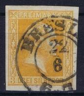 Preussen  Mi 8c Dunkel Orange  Obl./Gestempelt/used - Prusse