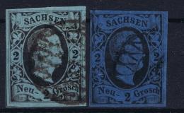 Sachsen  Mi 5 2x Farben  Obl./Gestempelt/used - Saxe