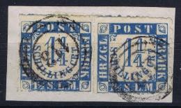 Holstein Und Luaenburg  Mi  7 Obl./Gestempelt/used  Pair On Fragment - Schleswig-Holstein
