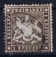 Wurttemberg  Mi  16Xb  Schwatzlichbraun  Obl./Gestempelt/used   1860 Papier 0.1 Mm - Wurtemberg