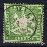 Wurttemberg  Mi  18X  Obl./Gestempelt/used   1860  Signed/ Signé/signiert/ Approvato - Wurtemberg
