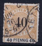 Wurttemberg Telegraaf Mi  5 Obl./Gestempelt/used - Wuerttemberg