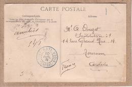 HAUT SENEGAL ET NIGER - OBLITERATION BLEUE KATI SUR CARTE POSTALE DE KATI AU SOUDAN - 1911 - Lettres & Documents