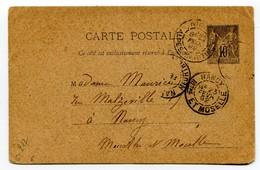 M32 :  ENTIER PAIX ET COMMERCE 10c 1892 - Standard Postcards & Stamped On Demand (before 1995)