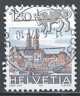 Switzerland 1982. Scott #720 (U) Signs Of The Zodiac, Taurus & Basel Cathedral * - Suisse