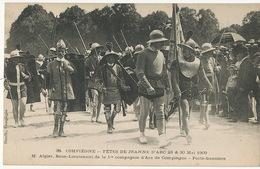 M. Algier Sous Lieutenant 1 Ere Compagnie Tir à L' Arc Compiegne . Fete Jeanne Arc 1909. Archery - Tir à L'Arc