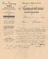 """Paris  -1909- Magasin """"La Samaritaine""""  Bon De Livraison - Textilos & Vestidos"""