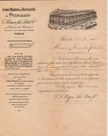 """Paris  -1905- Magasin """"A Pygmalion """"  Bon De Livraison - Textile & Clothing"""