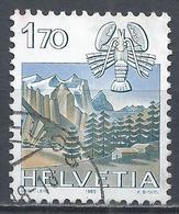 Switzerland 1983. Scott #722 (U) Signs Of The Zodiac, Cancer & Wetterhorn, Grindewald * - Oblitérés
