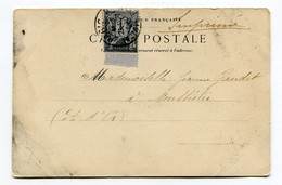 M32 :  PAIX ET COMMERCE 1c SUR CP 1900 - Marcophilie (Lettres)