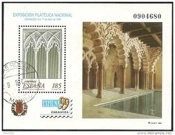 1999-ED. 3625 H.B.-EXFILNA'99. PALACIO DE LA ALFAJERIA. ZARAGOZA-usado- - Blocs & Hojas