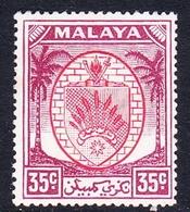 Malaysia-Negri Sembilan SG 57 1952 Arms, 35c Scarlet And Purple, Mint Hinged - Negri Sembilan