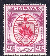 Malaysia-Negri Sembilan SG 58 1949 Arms, 40c Red And Purple, Mint Never Hinged - Negri Sembilan
